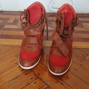 Wedge sneaker boot